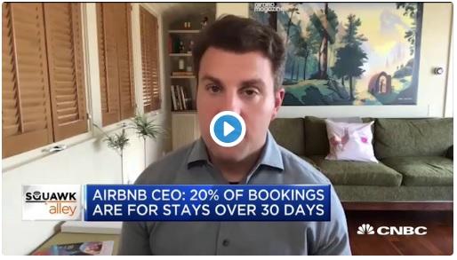 CEO de Airbnb Afirma que Han Perdido Casi Todo por Coronavirus