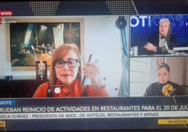 Presidenta de AHORA Perú Solicita Mayores Beneficios para Restaurantes Pequeños  (RPP Tv) (13/07)