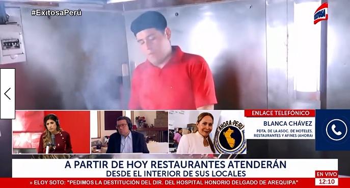 Blanca Chávez: Un 40% de Restaurantes Abrirán Esta Semana (Exitosa)