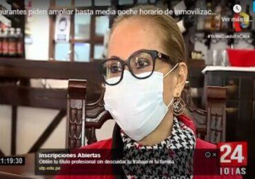 AHORA Perú Pide Ampliar Hasta la Media Noche Horario de Inmovilización y Reducir en 5% el IGV (Panamericana Tv)